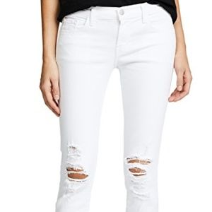 J Brand Demented Crop Jean in white